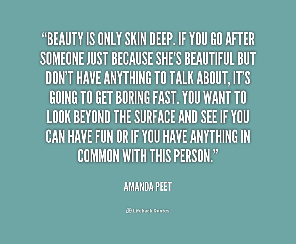 beautys only skin deep