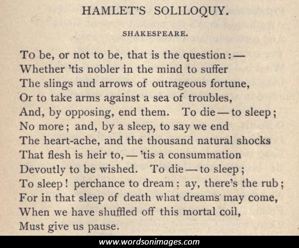 """hamlets to be or not to Lesson title: talking to myself: hamlet's soliloquies grade level: grades 9-12 'to be or not to be'"""" an introduction to hamlet's soliloquy from act iii."""