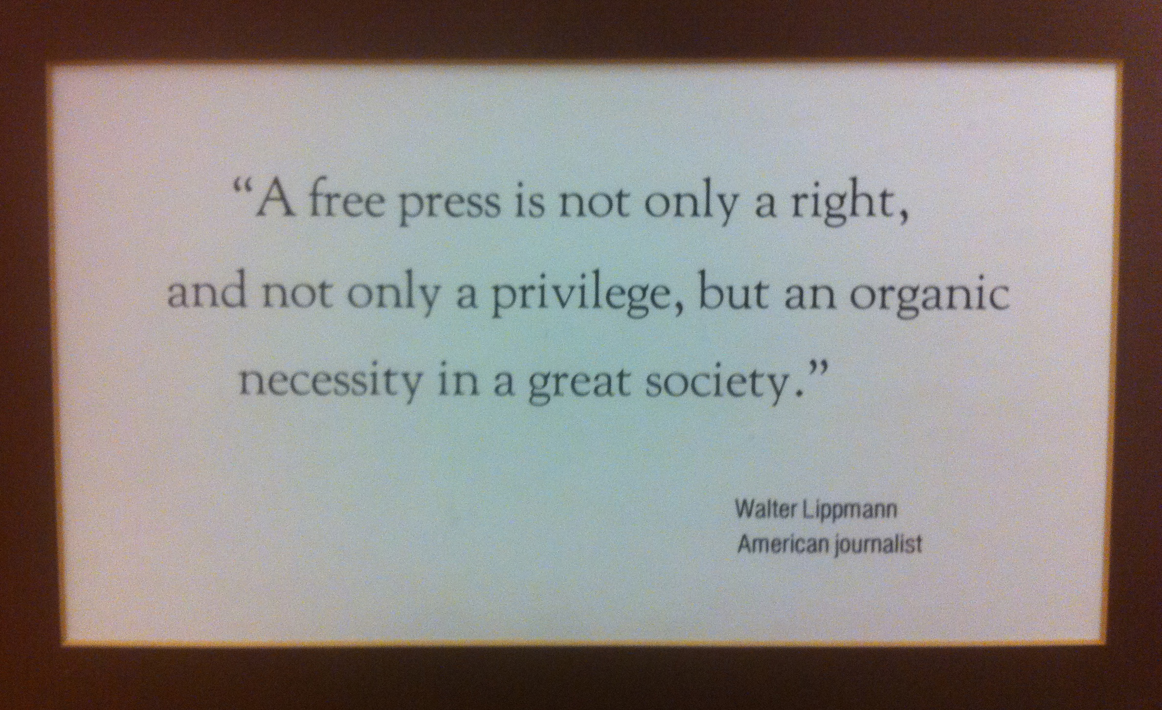 Quotes about Media and journalism (35 quotes)