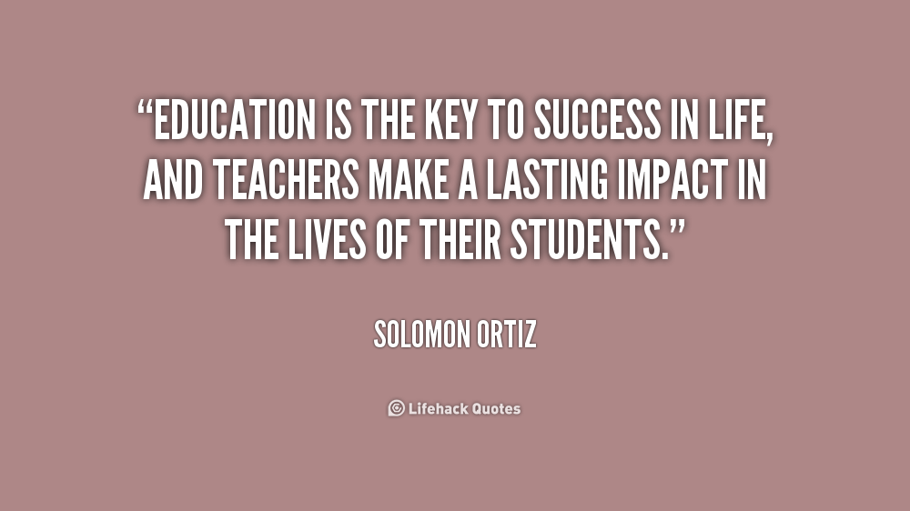 key to success in education
