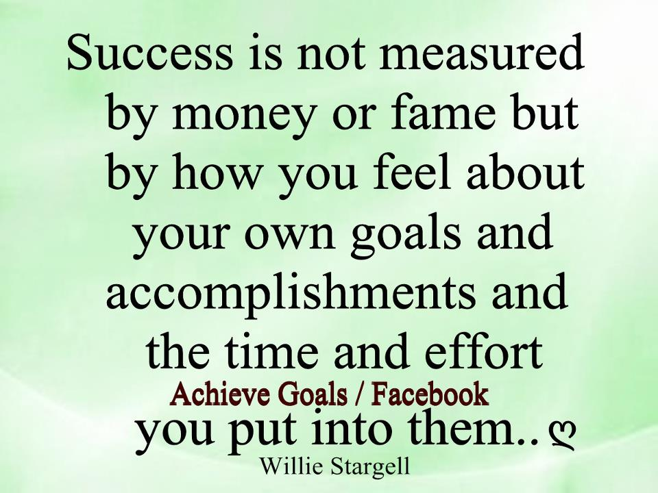 money is not the only measure Considering money as the only success measure can be very discouraging, especially when we start a business or new venture, join a networking marketing company, or go through changes and business.