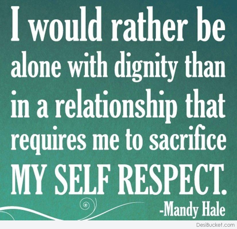having self respect in a relationship