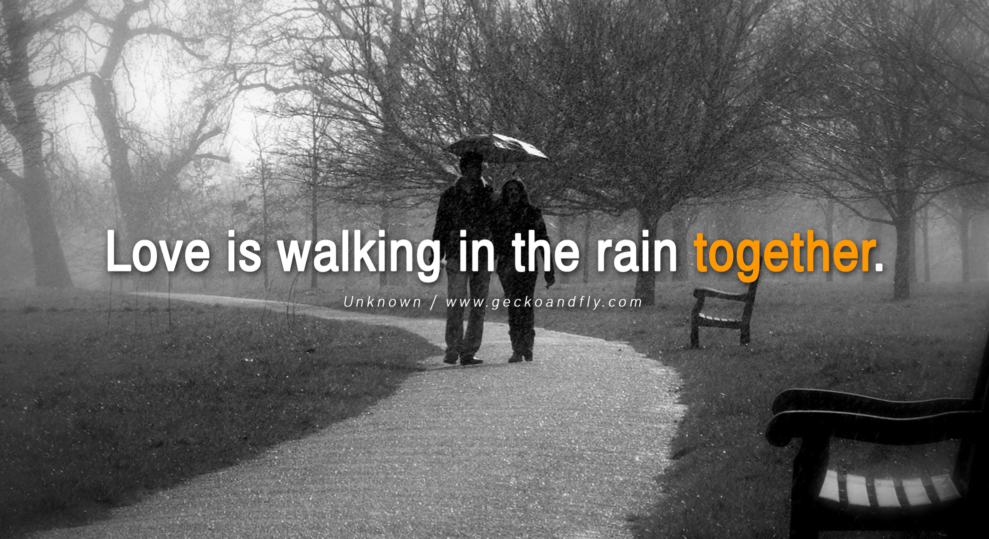 Rainy wallpapers with love quotes
