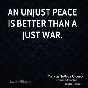 essay a just war is better than an unjust peace