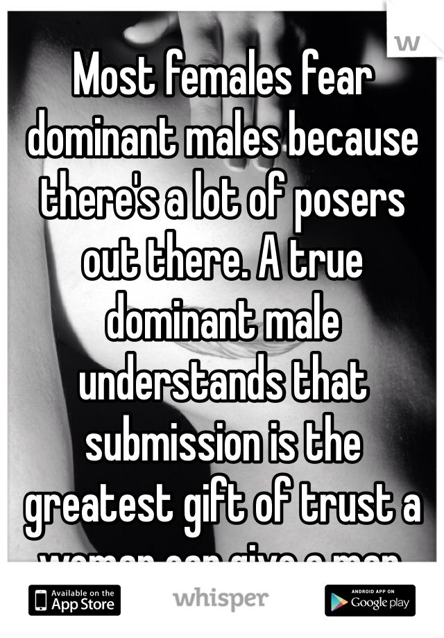 The domination of males