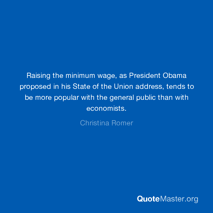 Raising The Minimum Wage As President Obama Proposed In His State