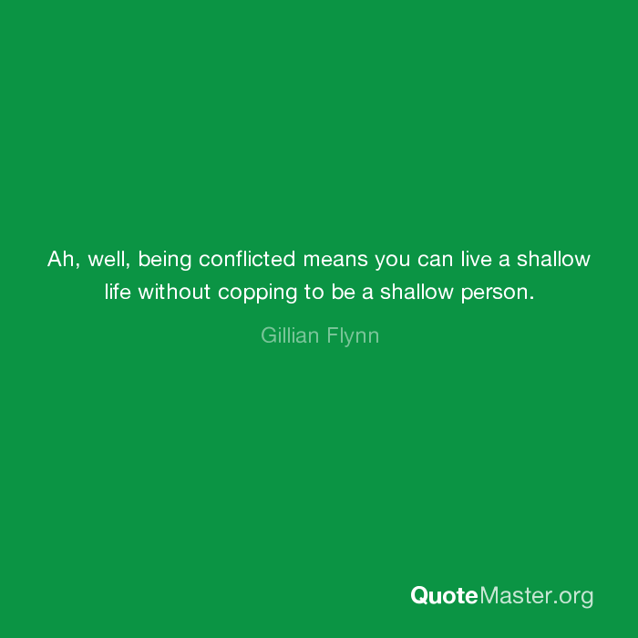 what does it mean when someone says your shallow