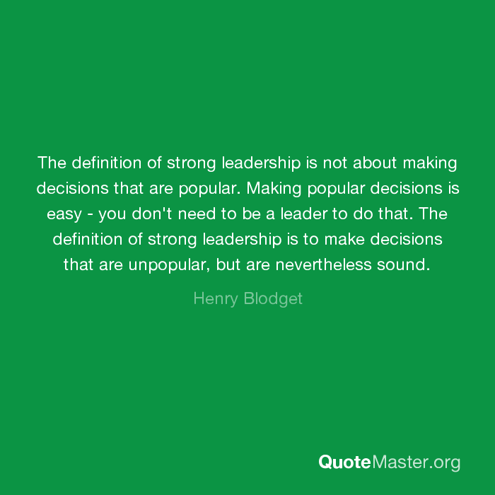 strong leadership definition