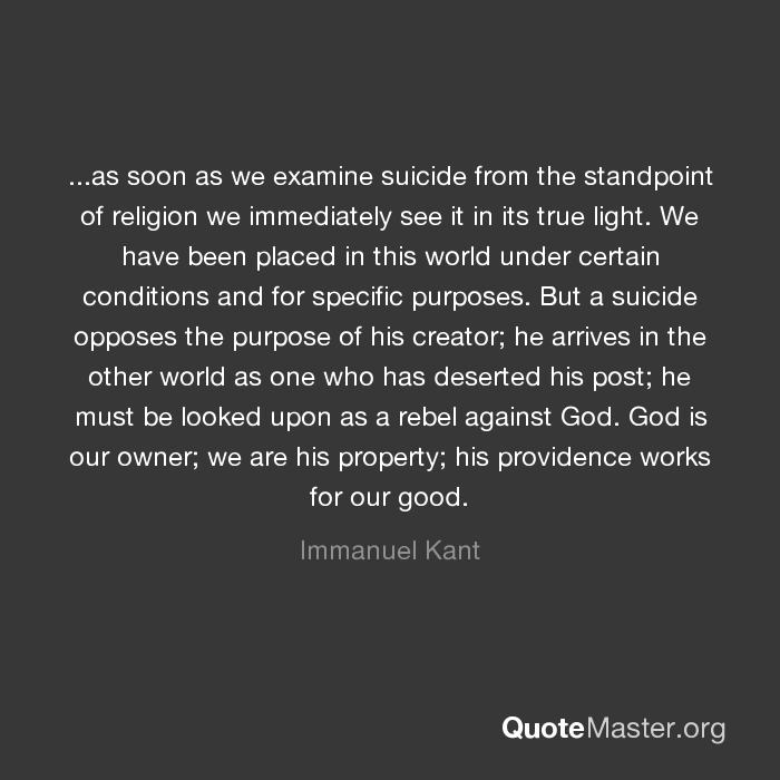 kant suicide