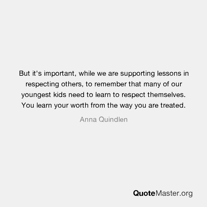 why respecting others is important