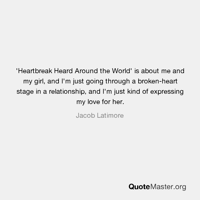 going through heartbreak