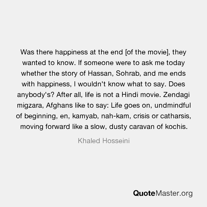 Was There Happiness At The End Of The Movie They Wanted To Know