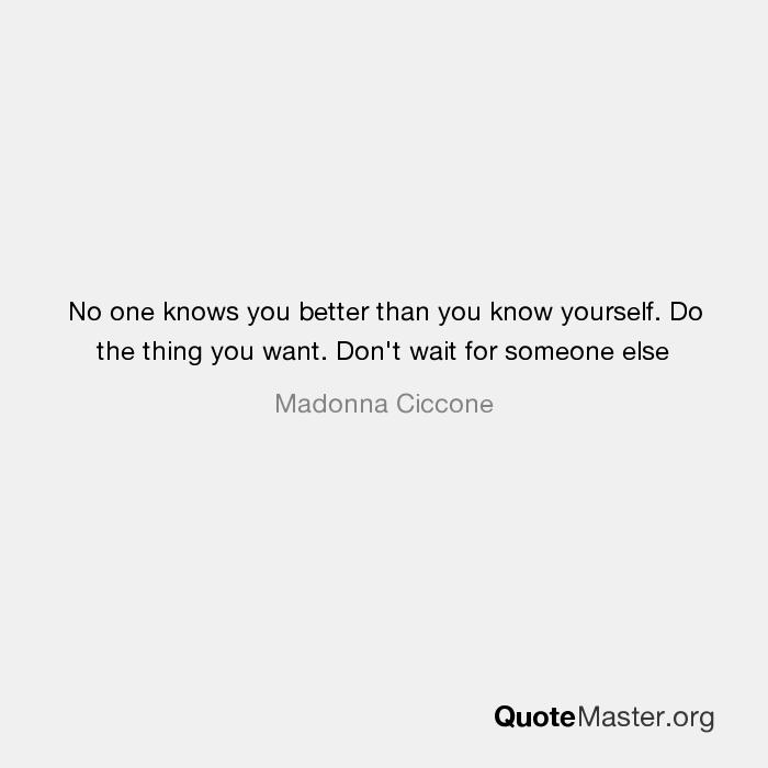 do i know myself