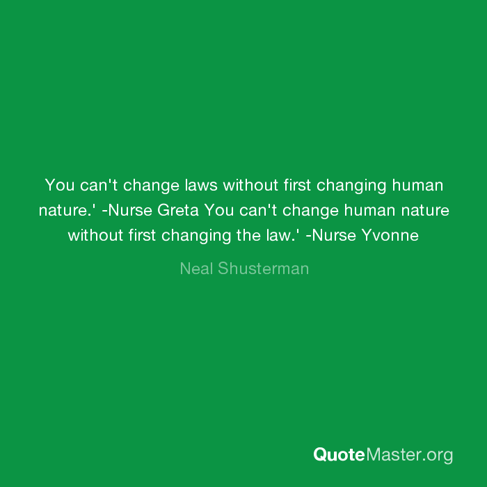 change is law of nature