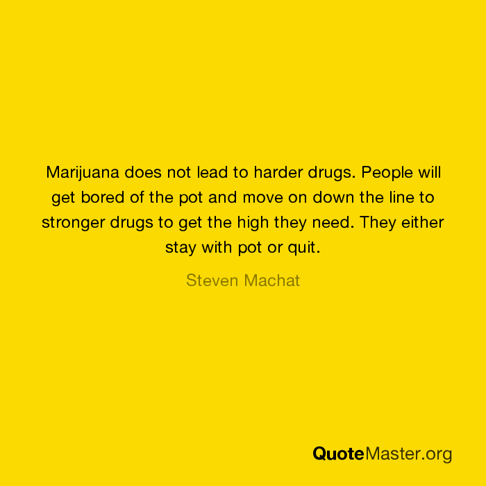 does cannabis lead to hard drugs