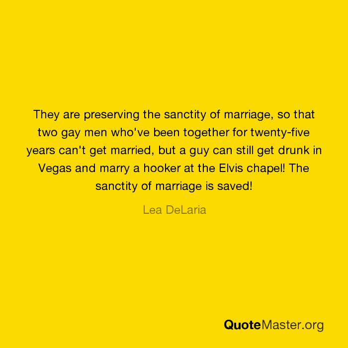 preserving the sanctity of marriage