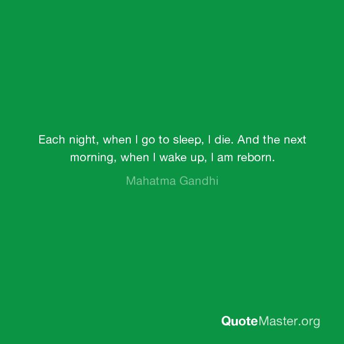 Each Night I Die