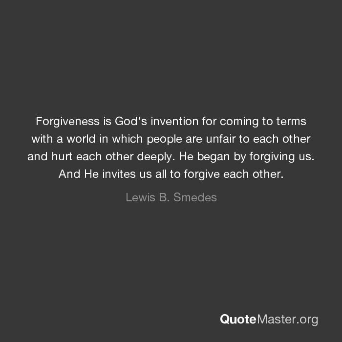 forgiveness and god