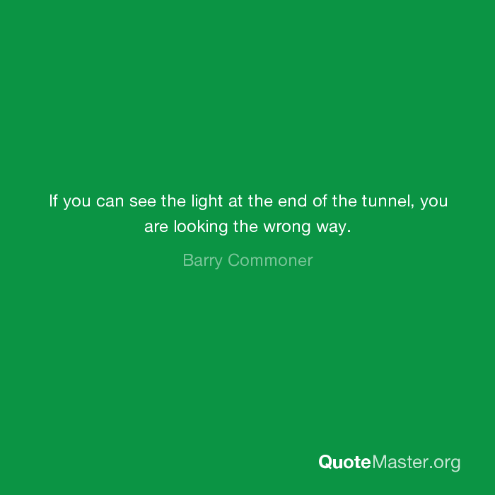 If Light At End Of Tunnel Is Green You >> If You Can See The Light At The End Of The Tunnel You Are Looking