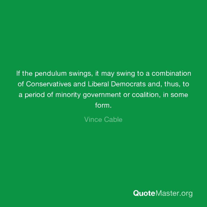 Swinging pendulum in government