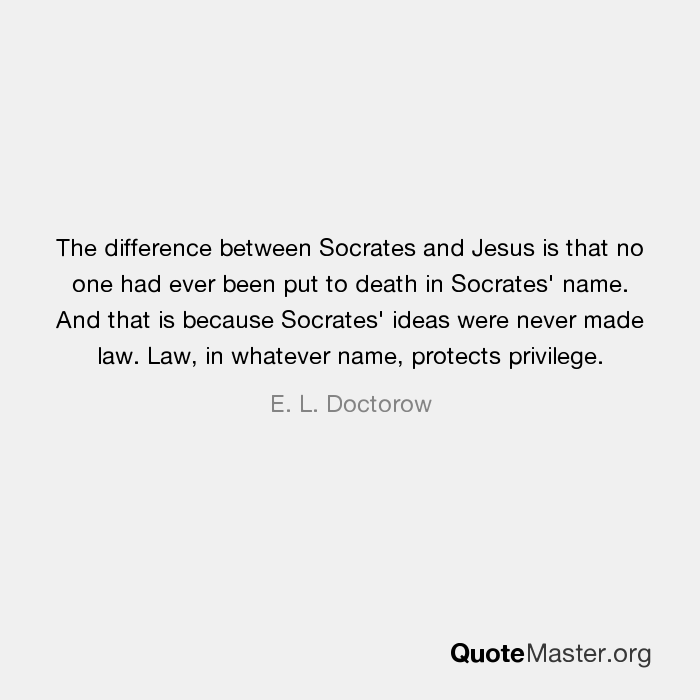 differences between socrates and jesus
