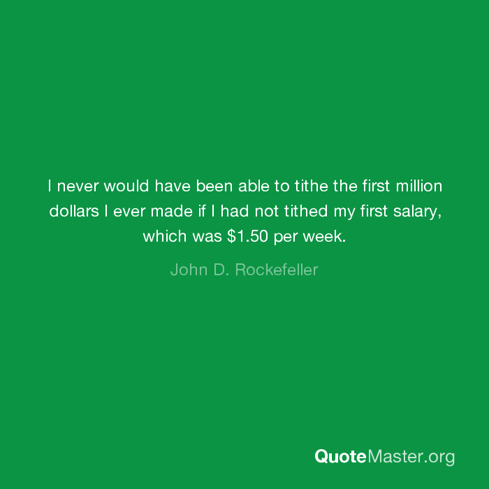 Rockefeller tithing quote