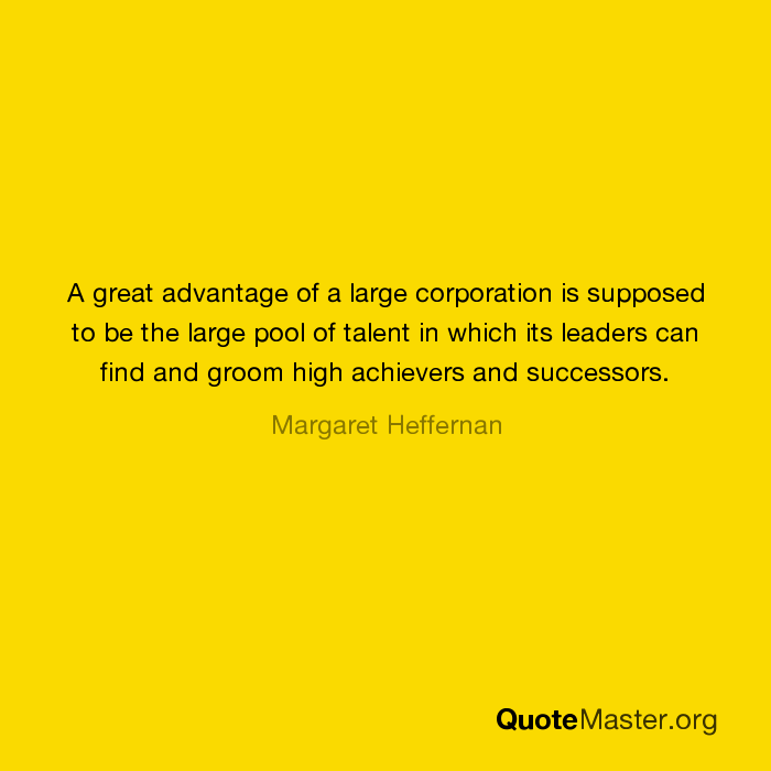 advantages of large corporation