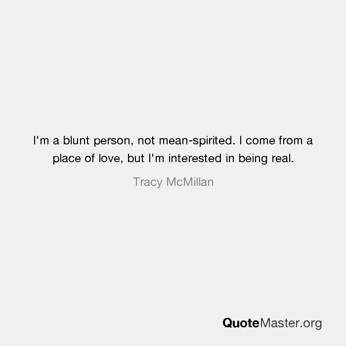 what does blunt person mean