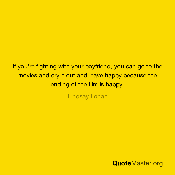 fighting with your boyfriend