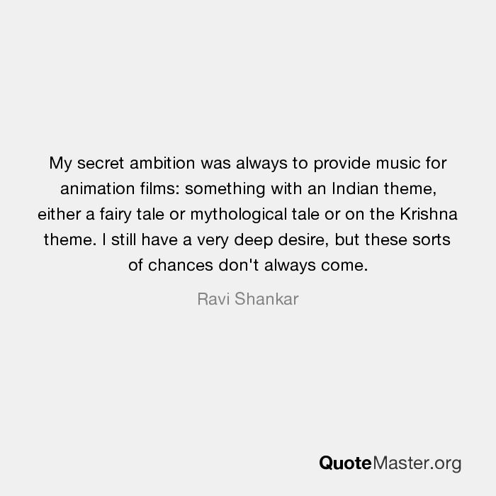 my secret ambition