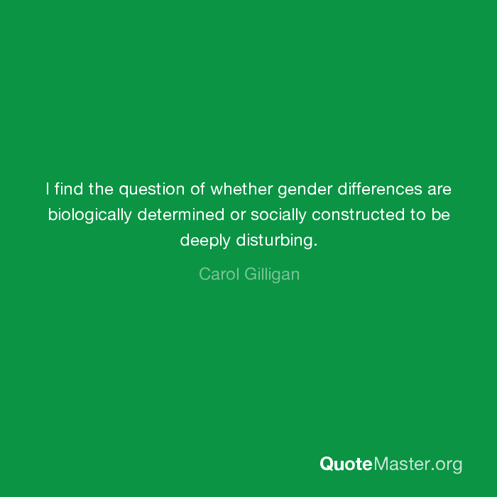 are gender differences biologically or socially determined