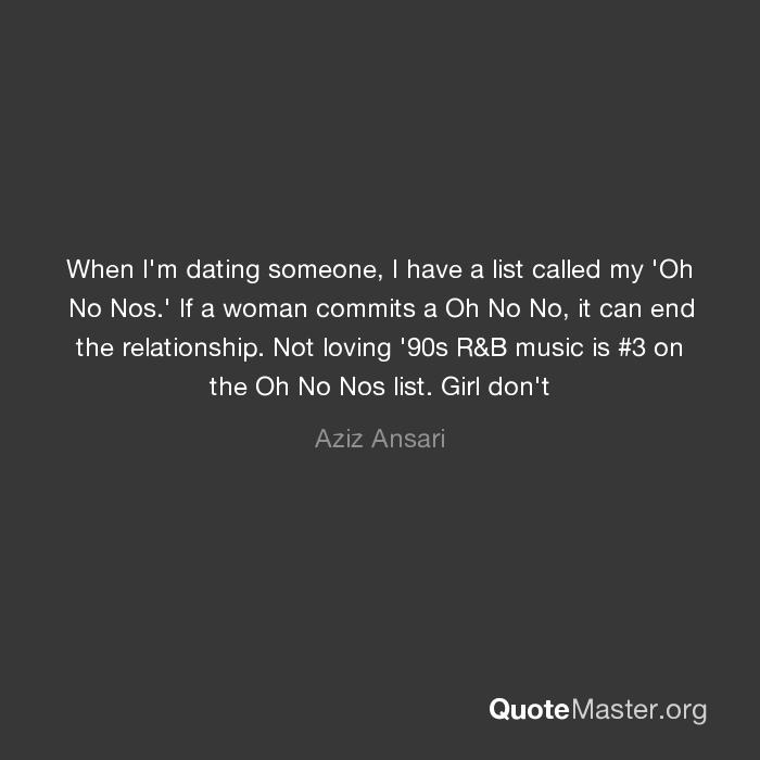 Relationship no nos