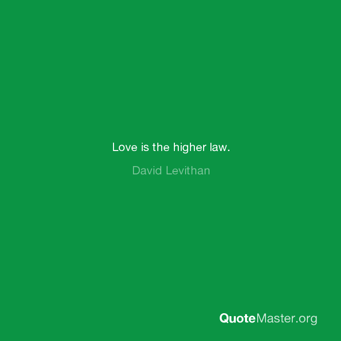 Love Is The Higher Law David Levithan