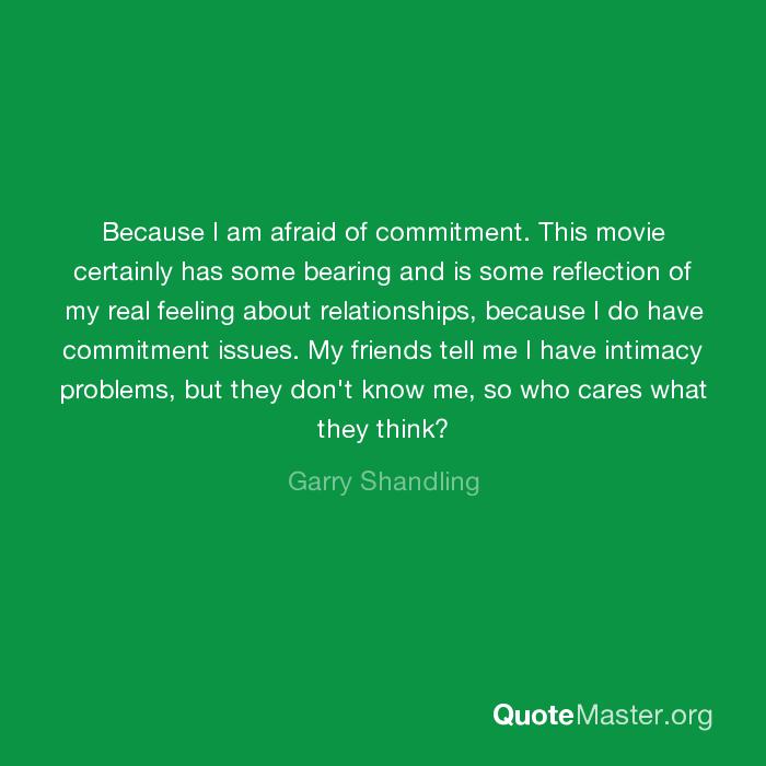 why am i afraid of commitment