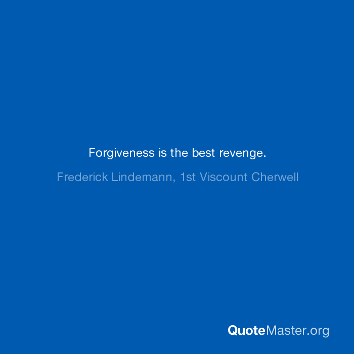 forgiveness is best revenge