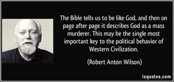 The Bible tells us to be like God, and then on 