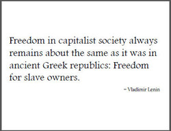 Freedom in capitalist society always 