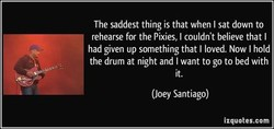 The saddest thing is that when I sat down to 