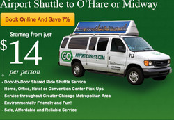 Airport Shuttle to O'Hare or Midway 