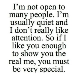 I'm not open to 