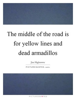 The middle of the road is 