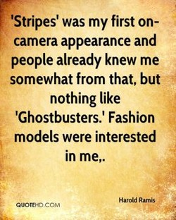 'Stripes' was my first on- 