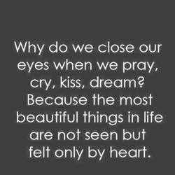 Why do we close our 