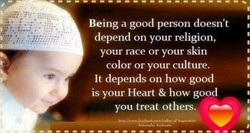 Being a good person doesn't