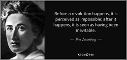 Before a revolution happens, it is 