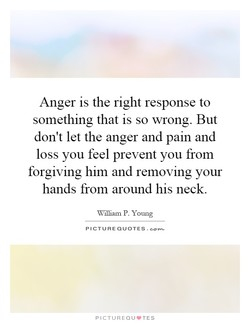 Anger is the right response to 