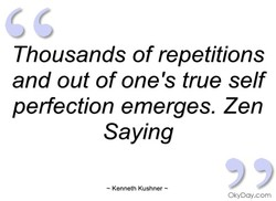 Thousands of repetitions 