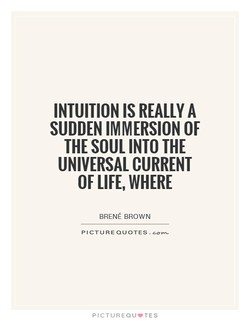 INTUITION IS REALLY A 