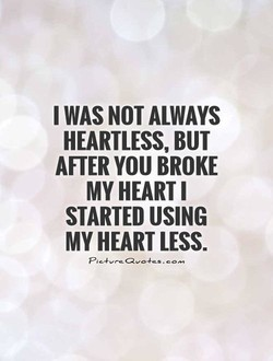 I WAS NOT ALWAYS 