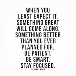 WHEN YOU 